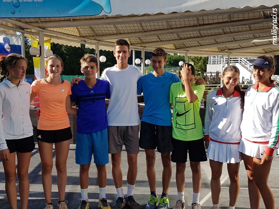 Petar Teodorović, Marko Topo, Dinko Dinev, Vladimir Popov, Krka Cup 2017 U15 Otočec na Krki Slovenija, Slovenia, Tennis Europe Junior Tour