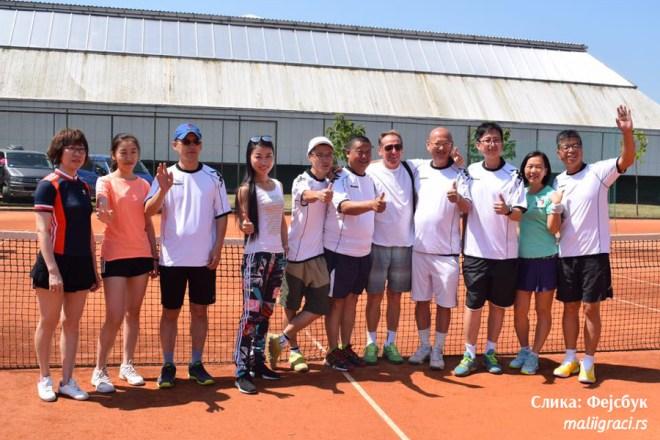 Shui Wang, Đorđe, Merdžijević, Aleksandar Stevanović, Miroslav Kocić, Miss ZhongQui, DSM Tennis Academy, teniseri iz Kine na kampu u Srbiji