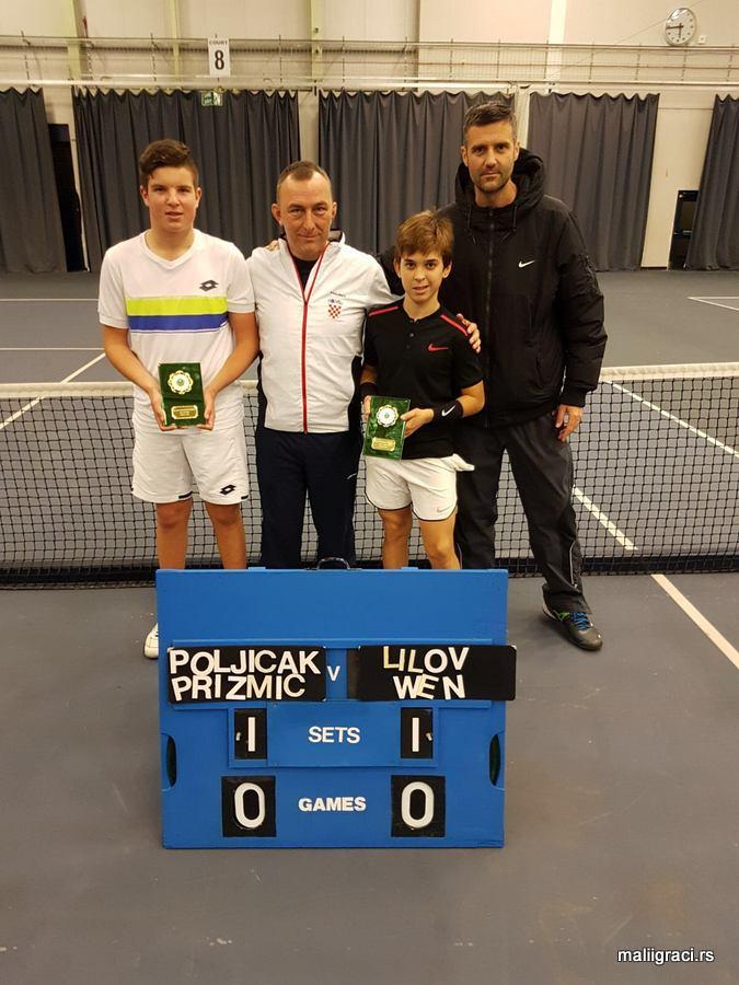 Mili Poljičak, Dino Prižmić, Junior International Bolton U14, Bolton England, Tennis Europe Junior Tour