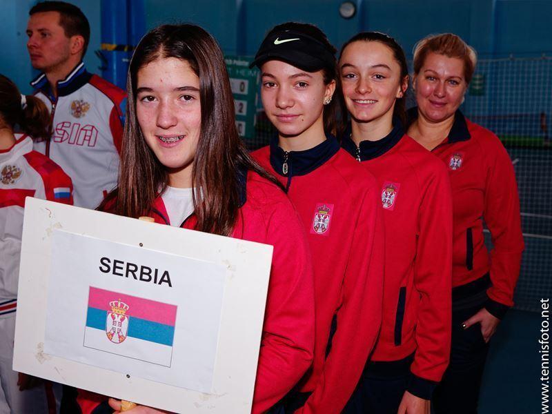 Fatma Idrizović, Lea Rupnjak, Lola Radivojević, Ana Cvetković, Rakovnik Checz Republic, Tennis Europe Winter Cups by HEAD U14