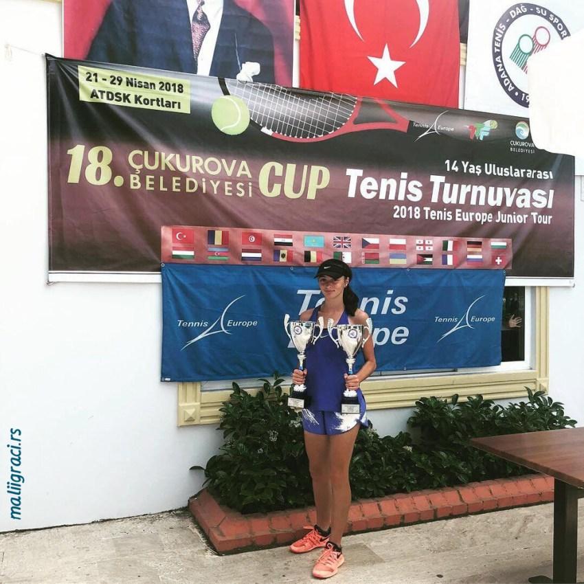 Фатма Идризовић освојила дуплу круну на ETA U14 Cukurova Cup у Адани, Турска
