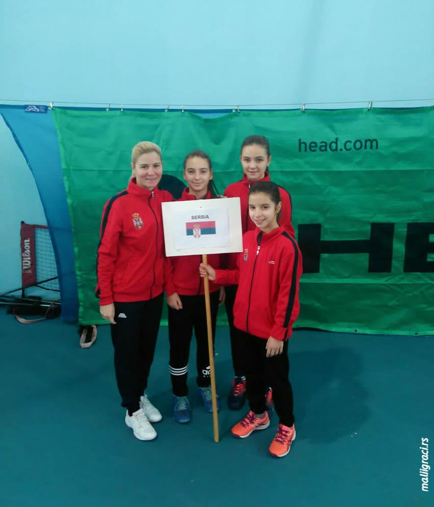 Aleksandra Stevanović, Teodora Kostović, Katarina Milošević Branislava Beba Janković, Tennis Europe Winter Cups by HEAD U12 Ogulin Hrvatska