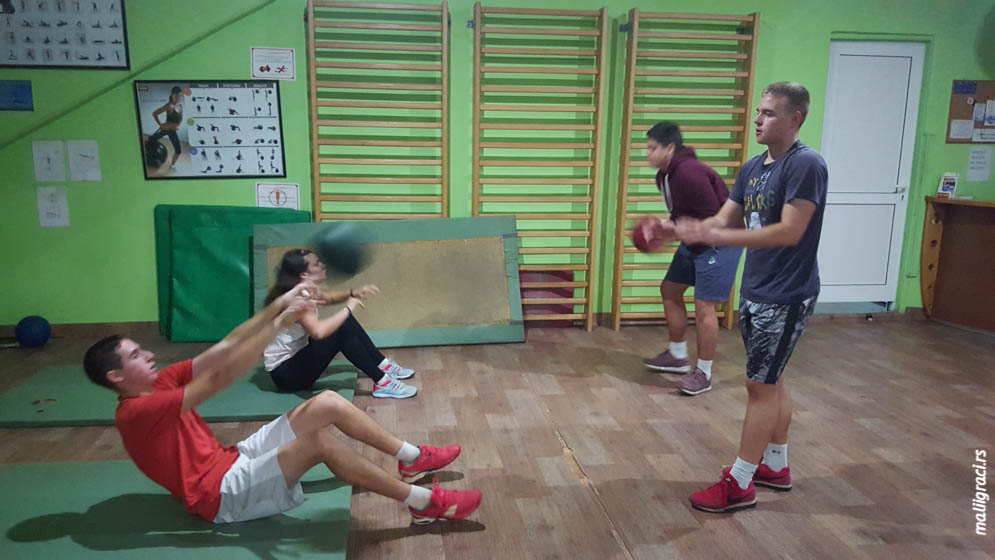 Milica Nišević, Mihailo Radosavljević, Ognjen Pavlović, Mirko Tadić, Kondicija u Premium tenisu, Premium tenis Beograd