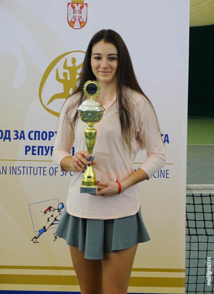Nikol Paleček, Dvoransko prvenstvo Srbije do 16 godina, Teniski savez Srbije, Teniski klub Trim Beograd