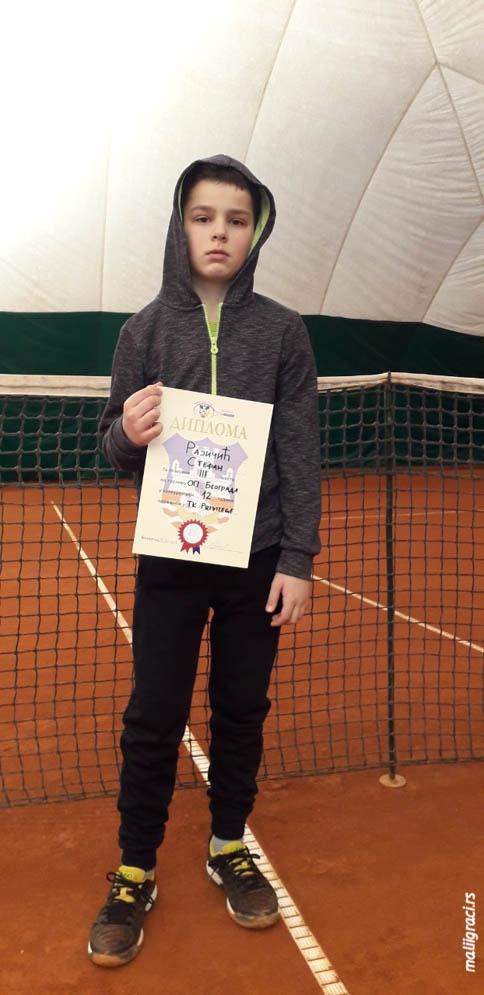 Stefan Rajičić, Otvoreno prvenstvo Beograda za dečake do 12 godina, Teniski klub Privilege Beograd