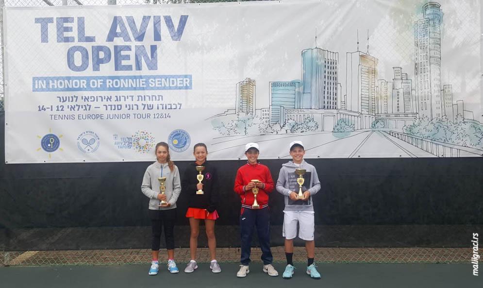 Milan Matović, Tim Vaisman, Addison Comiskey, Sapir Cohen, Tel Aviv Open in Honor of Ronnie Sender U12, Tel Aviv Izrael, Tennis Europe Junior Tour