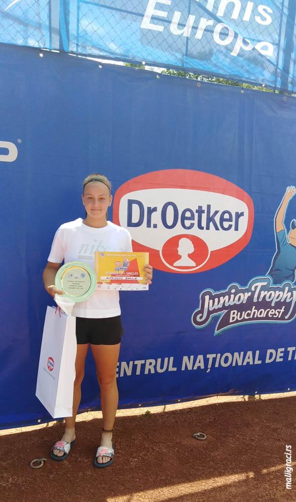 Emiliija Zdravković, Dr Oetker Junior Trophy U14 Bukurešt Rumunija, Tennis Europe Junior tour