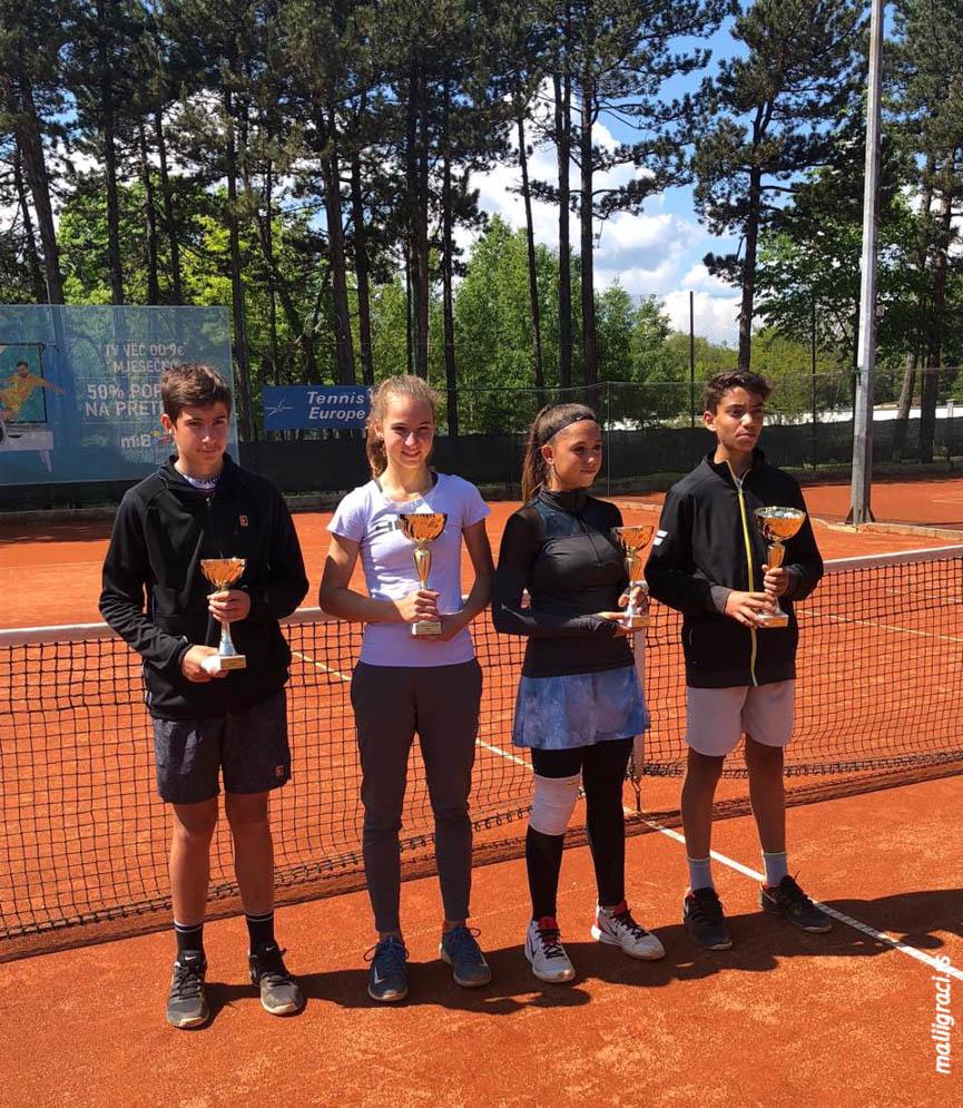 Jovana Grujić, May Baranes, Paul Barbier Gazeu, Fabio De Michele, Montenegro Cup 2019 Nikšić, U14, Teniski klub Nikšić, Tennis Europe Junior tour