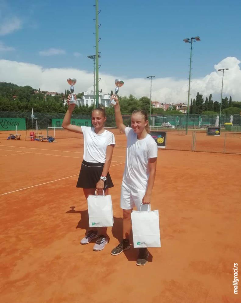 Anđela Lazarević, Maša Viriant, TE MARINA SR OPEN U14 Portorož, Tennis Europe Junior Tour