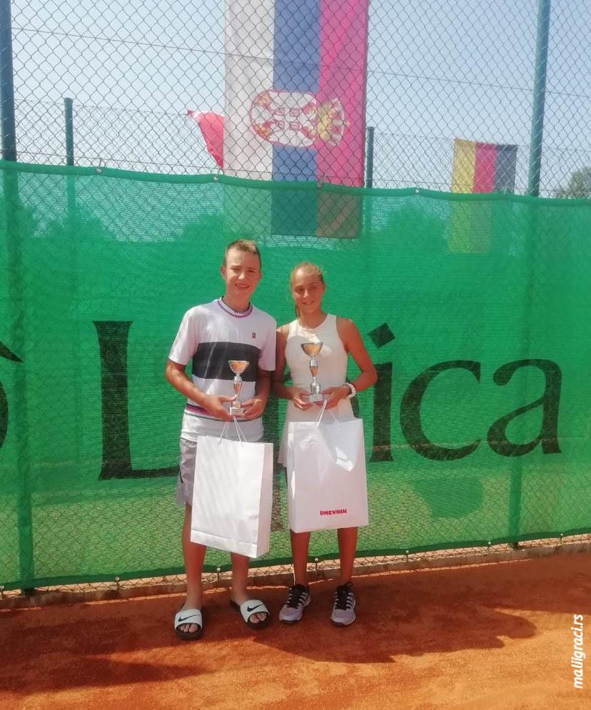 Anđela Lazarević, Romeo Hadžimehmedović, TE MARINA SR OPEN U14 Portorož, Tennis Europe Junior Tour