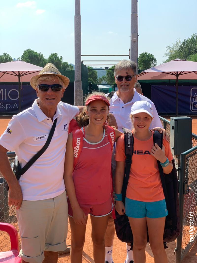Aleksandra Đokić, Aurora Nosei, San Marino Junior Cup 12&under U12, San Marino Italija, Tennis Europe Junior Tour