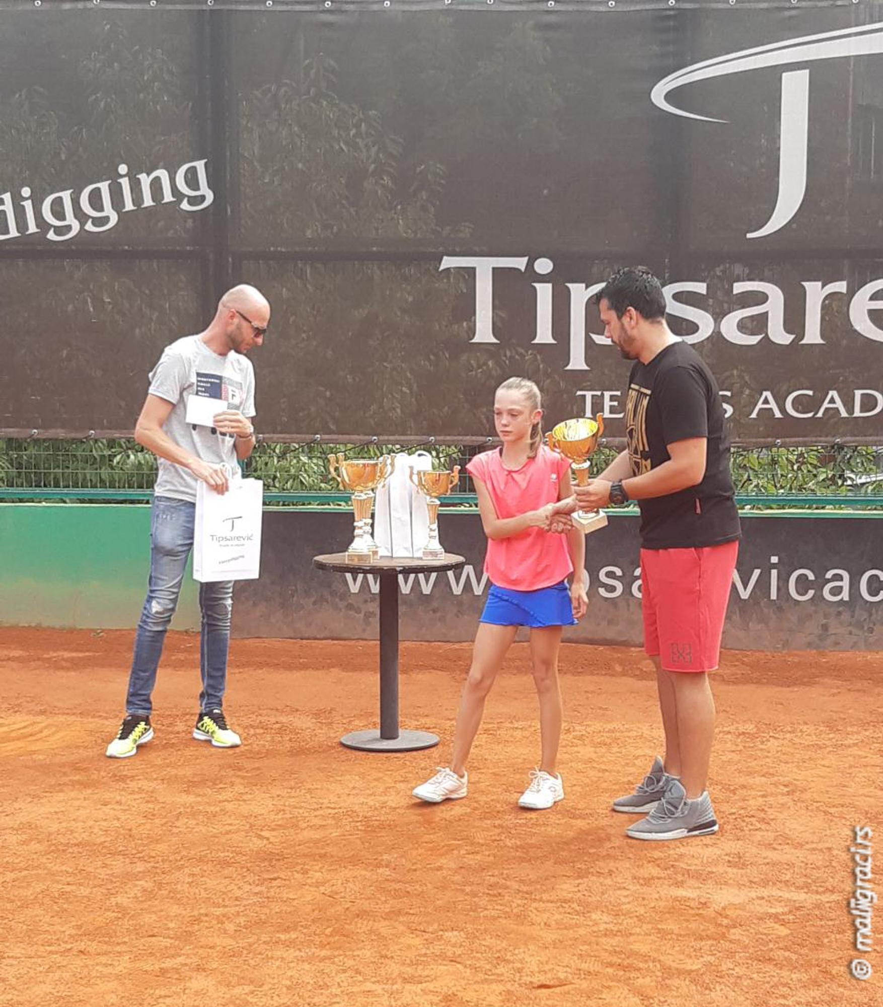 Helena Radman, Darko Gagić, Nenad Ilić, MIŠIN MEMORIJAL 2019 U12, Teniska akademija Tipsarević Beograd, Tipsarević Tennis Academy, Tennis Europe Junior Tour