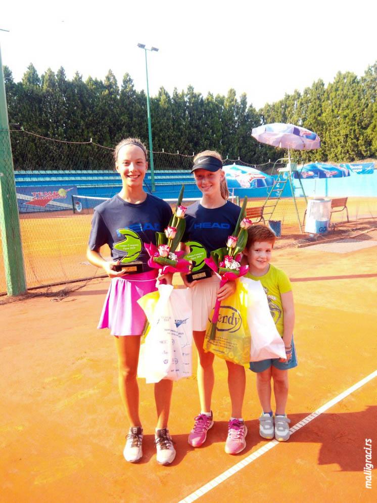 Jelena Gojković, Klara Vaja, Viktor Vaja, Tempo Company Open 2019 U14, Teniski klub Đukić Beograd, Tennis Europe Junior Tour