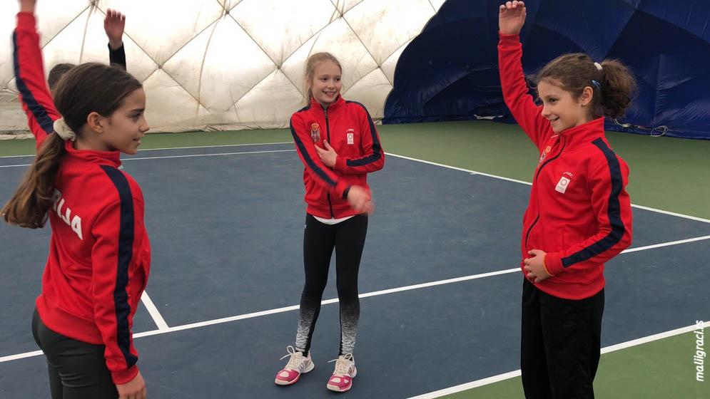 Aleksandra Đokić, Gala Ivanović, Tennis Europe Winter Cups, reprezentacija Srbije do 12 godina