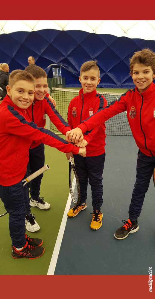 Mihailo Topić, Vanja Nikolić, Lazar Luković, Uroš Rađenović, Tennis Europe Winter Cups, reprezentacija Srbije do 12 godina