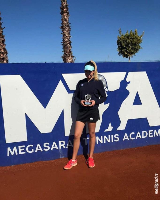 Андреа Обрадовић финалисткиња ITF Unica Open (4. разреда) у Анталији