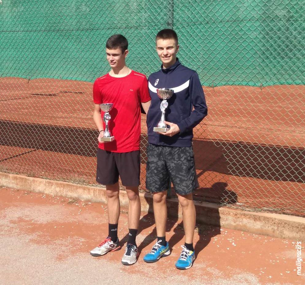 Petar Bašić Palković, Nikola Cvetanović, Kup Srbije za mladiće do 18 godina, Teniski klub Tennis Point Čačak