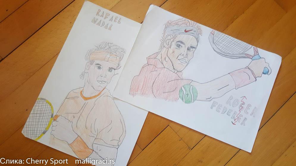 Gregor Stojnev, Konkurs Crtam Pravim Pišem dok ne igram, Motivaciono nagradni konkures, Cherry Sport, Dečiji svet tenisa