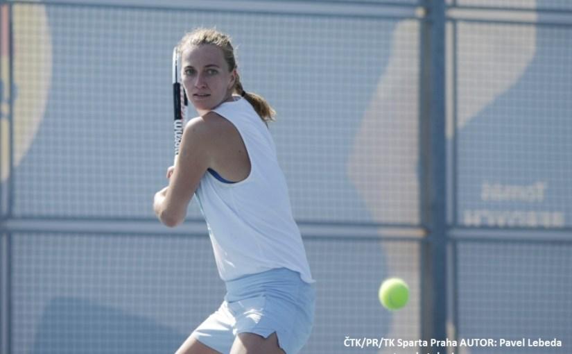 Petra Kvitova, Prvi trening Petre Kvitove na otvorenim terenima, Češka Republika otvorila teniske terene