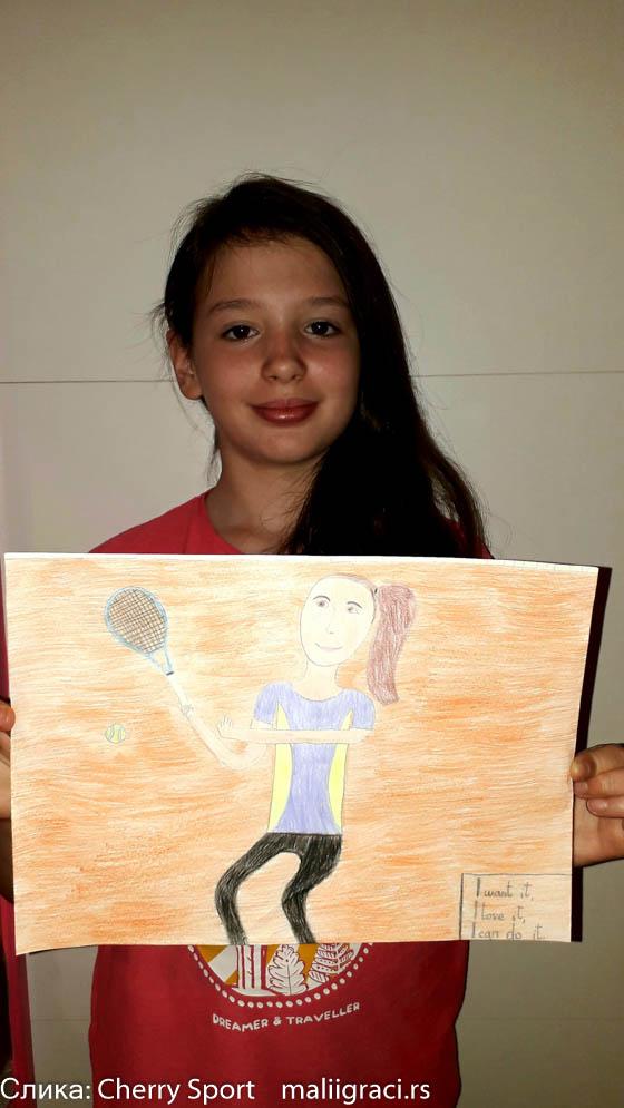 Mina Marković, Konkurs Crtam Pravim Pišem dok ne igram, Motivaciono nagradni konkures, Cherry Sport, Dečiji svet tenisa