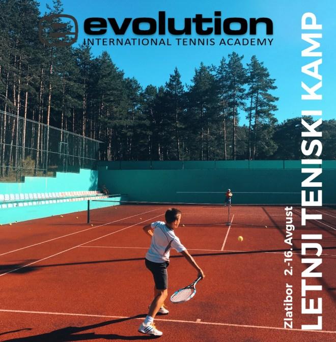 Letnji teniski kamp EVOLUTION 2020, Kamp Dejana Vukojičića na Zlatiboru, Evolution Kids Tennis, teniski trener Dejan Vukojičić
