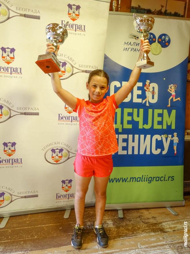 Hana Ilić, Champions Bowl Serbia 2020, Champions Bowl Srbija 2020, Trofej grada Beograda, dečji teniski turnir 13. teniske nade, TK Haron Beograd