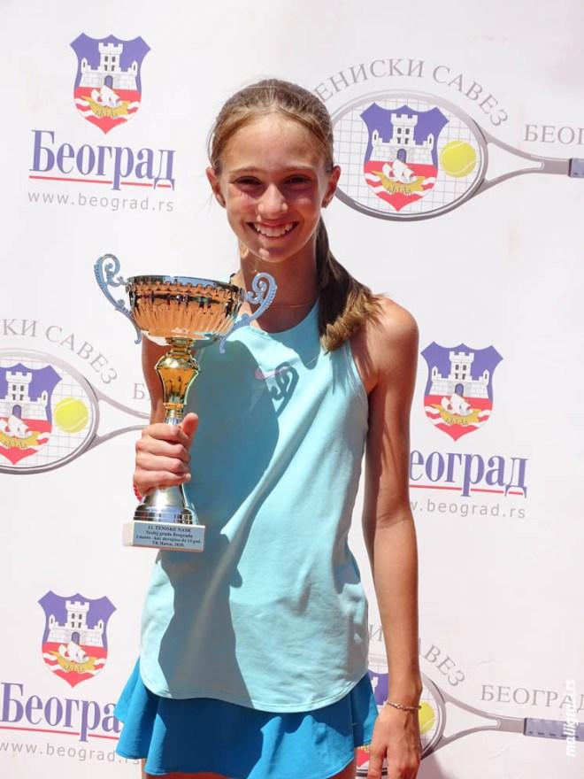 Luna Vujović, Champions Bowl Serbia 2020, Champions Bowl Srbija 2020, Trofej grada Beograda, dečji teniski turnir 13. teniske nade, TK Haron Beograd