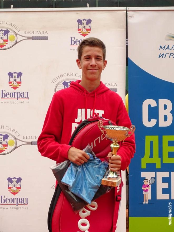 Marko Nikolić, Champions Bowl Serbia 2020, Champions Bowl Srbija 2020, Trofej grada Beograda, dečji teniski turnir 13. teniske nade, TK Haron Beograd