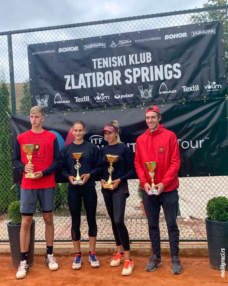 Andrea Obradović, Iva Šepa, Veljko Krstić, Mikhail Korkunov, ITF J5 Zlatibor Open 2020 Srbija, Teniski klub Zlatibor Springs