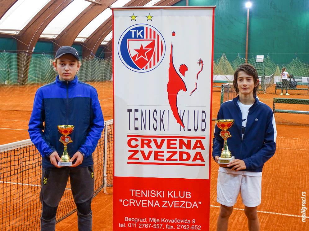 Ognjen Milić, Justin Engel, BOŽIĆNI TURNIR 2021 U14, Teniski klub Crvena zvezda Beograd, Tennis Europe Junior Tour