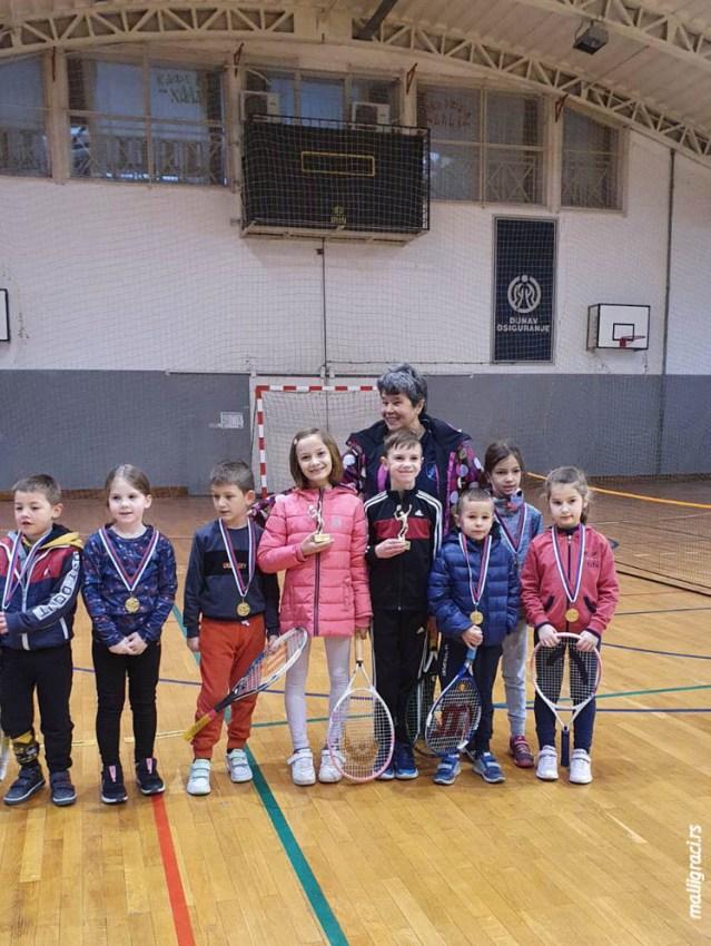 Плава екипа најбоља на ОП Ћићевца до 8 година у ТК Ћићевац (црвени ниво)