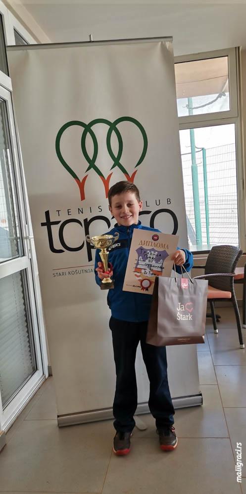 Petar Travica, Otvoreno prvenstvo Beograda za dečake do 10 godina zeleni nivo, Teniski klub Topako Beograd