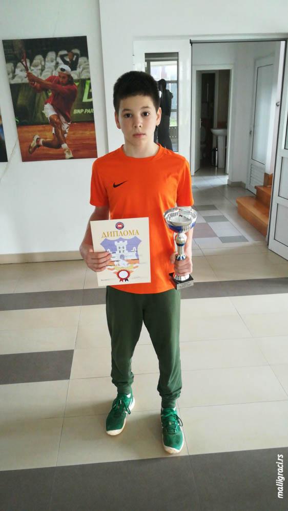 Krsto Krivokapić, Otvoreno prvenstvo Beograda za dečake do 12 godina, Teniski klub Winner Beograd