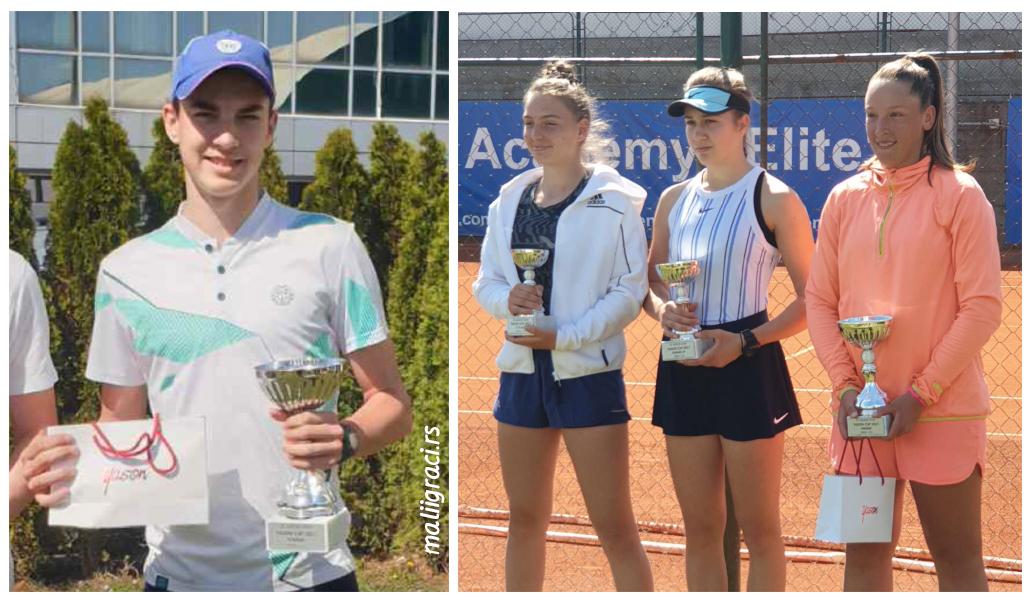 Vuk Rađenović, Anja Stanković, Dunja Marić, Teodora Kostović, YASON CUP 2021 U16, Teniska akademija Elite Novi Sad, Tennis Europe Junior Tour