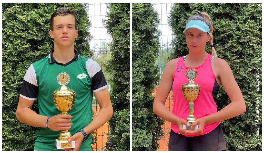 Aleksa Pisarić, Andrea Obradović, ITF J5 NIŠ OPEN 2021 Srbija, Teniski klub TAŽ Niš, Teniska akademija Živković Niš