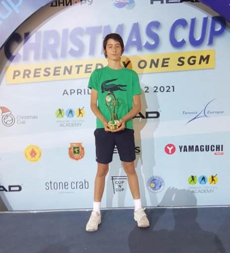 Ognjen Milić, Christmas Cup 2021 presented bу ONE SGM U14 Himki Moskva, Teniska akademija Ostrovski Moskva, Tennis Europe Junior Tour