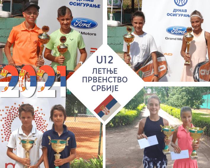 Retrospektiva letnjih prvenstava Srbije do 12 godina, Letnje prvenstvo Srbije do 12 godina, Teniski savez Srbije