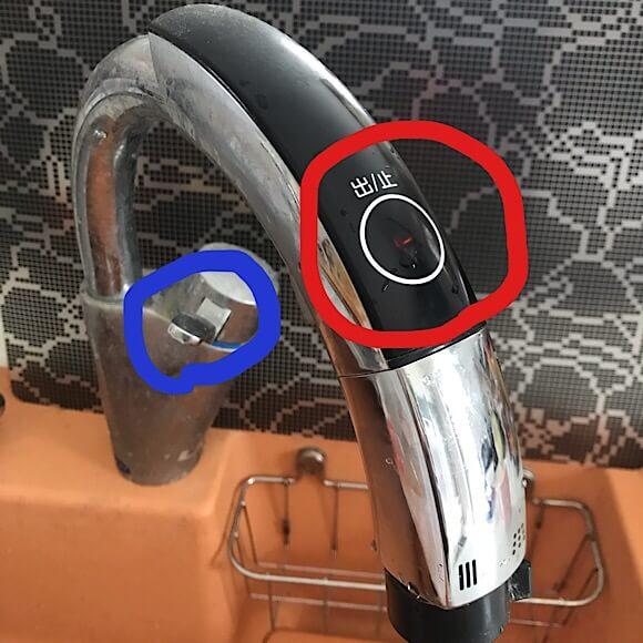 INAXのキッチン用タッチレス水栓