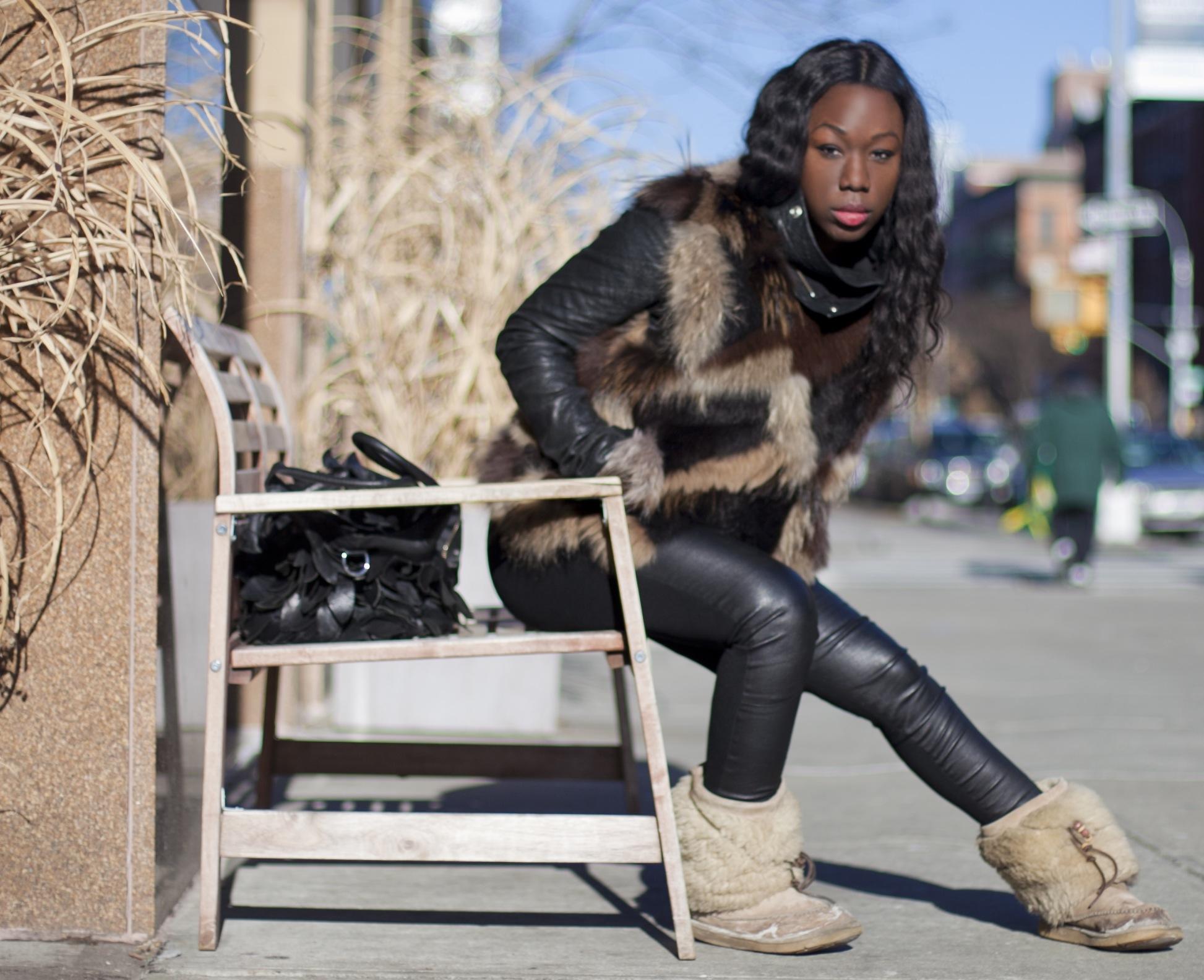 Polar Vortex Leather Pants And A Fur Vest Malinda Knowles