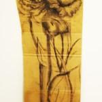 Flower Sketch on Cardboard