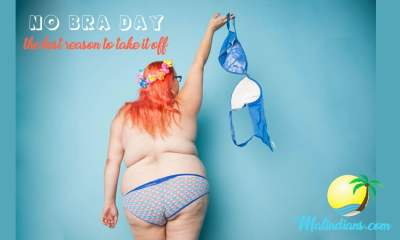no bra day campaign