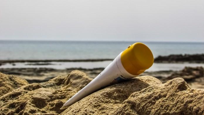 suncream on malindi beaches