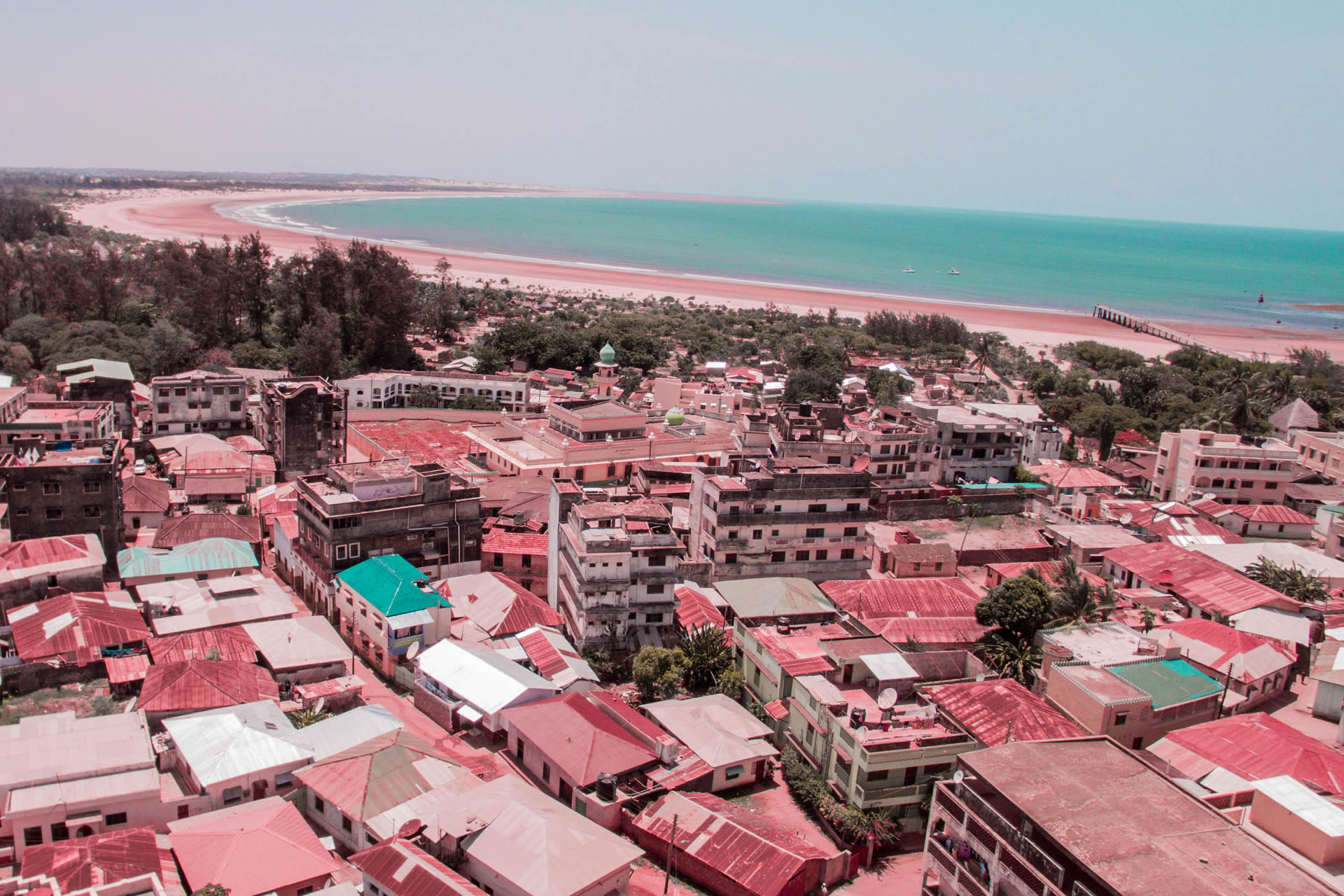 aerial view of malindi bay