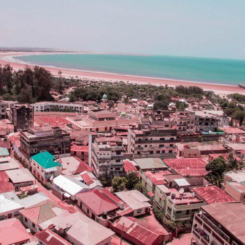 aerial view of malindi bay