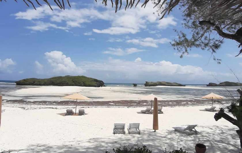 A picture of the beach in watamu kenya