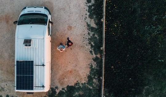 Vanlife Dronepicture Portugal Algarve
