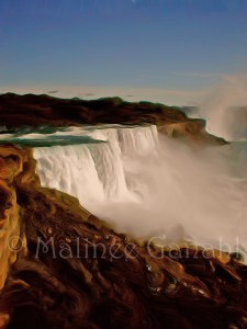 Classic landscape painting Majestic Niagara Falls by Malinee Ganahl