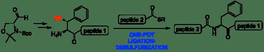 B-thiol Phe TFET One-pot TOC