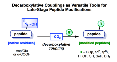 Decarboxylative coupling abstract website News