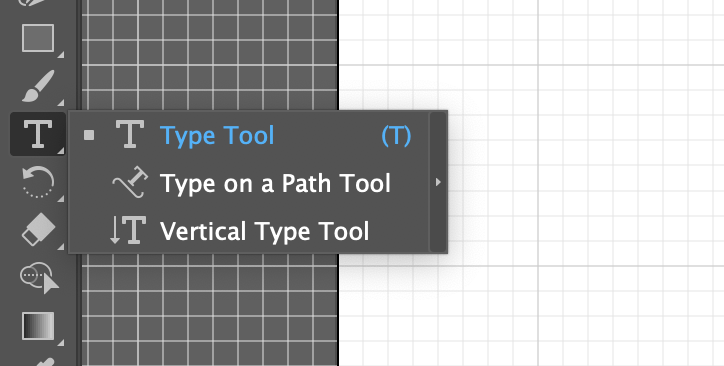 Type on path tool